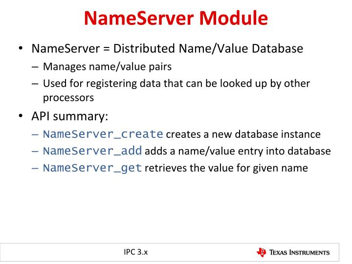 NameServer Module