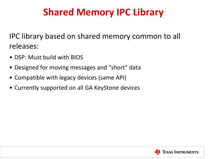 Shared Memory IPC Library