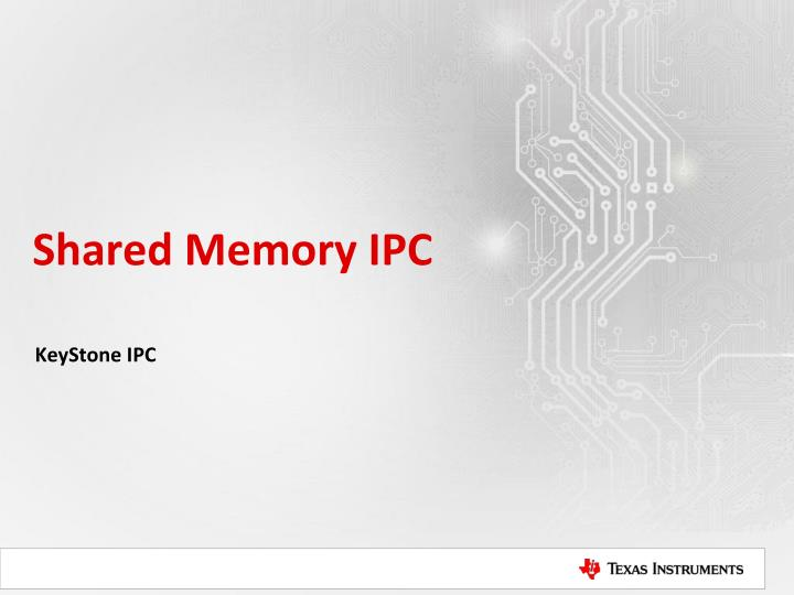 Shared Memory IPC