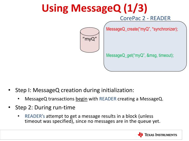Using MessageQ (1/3)
