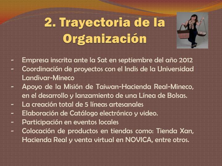 2. Trayectoria de la Organización