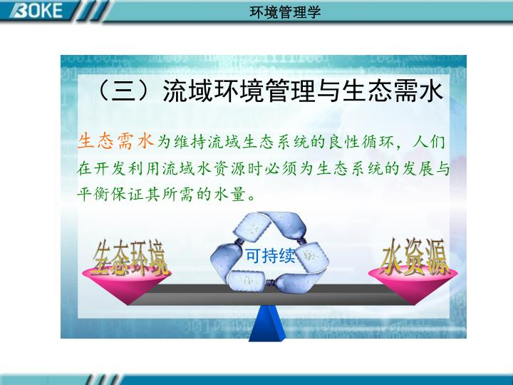 (三)流域环境管理与生态需水