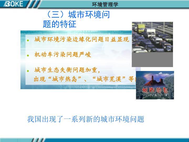 (三)城市环境问题的特征