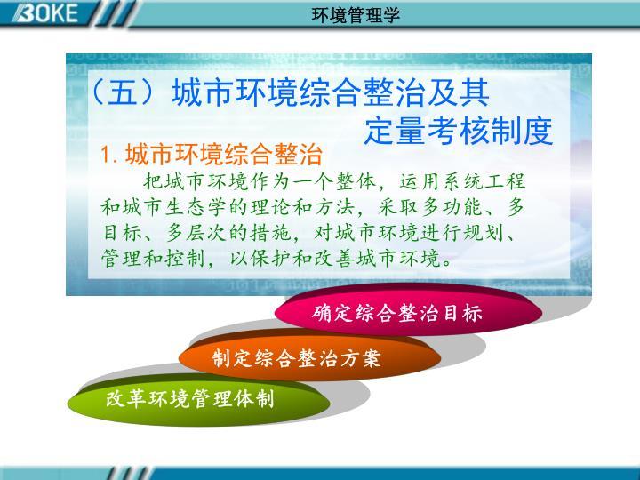 (五)城市环境综合整治及其
