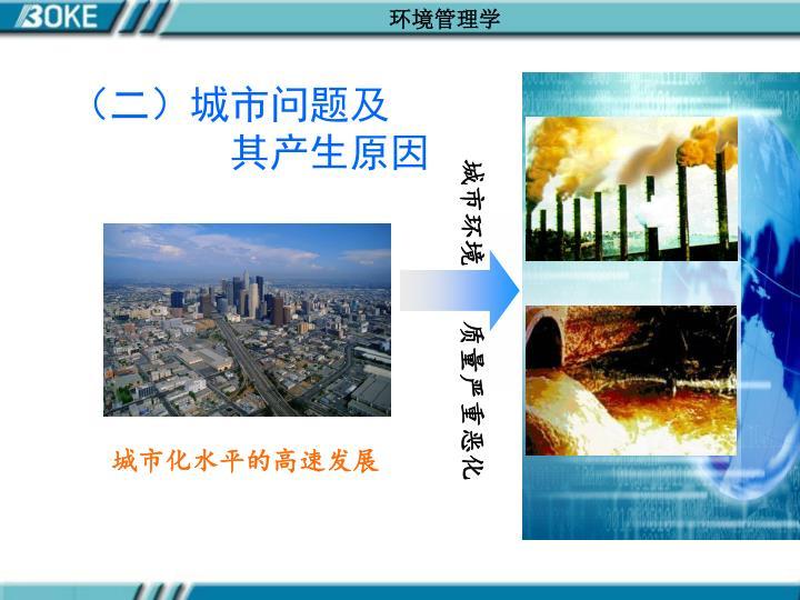 (二)城市问题及