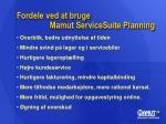 fordele ved at bruge mamut servicesuite planning