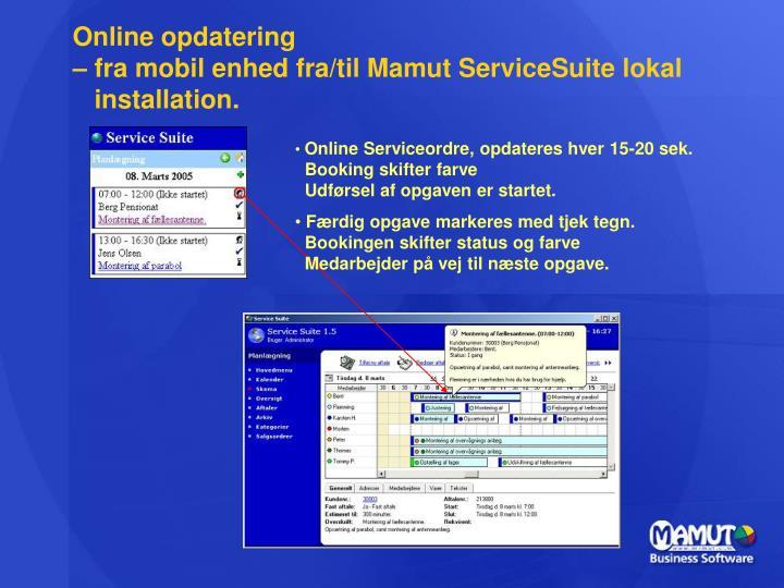 Online opdatering