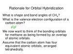 rationale for orbital hybridization