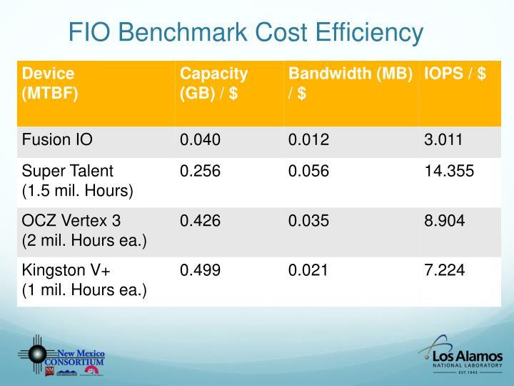 FIO Benchmark Cost Efficiency