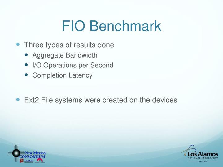 FIO Benchmark