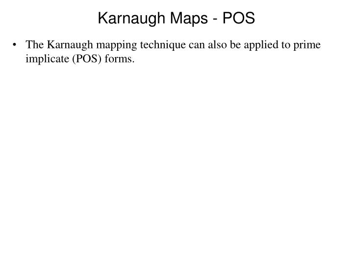 Karnaugh Maps - POS