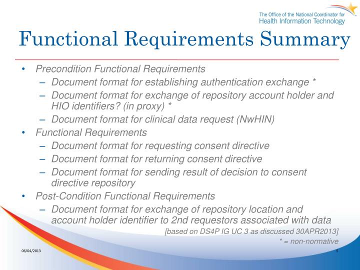 Functional Requirements Summary