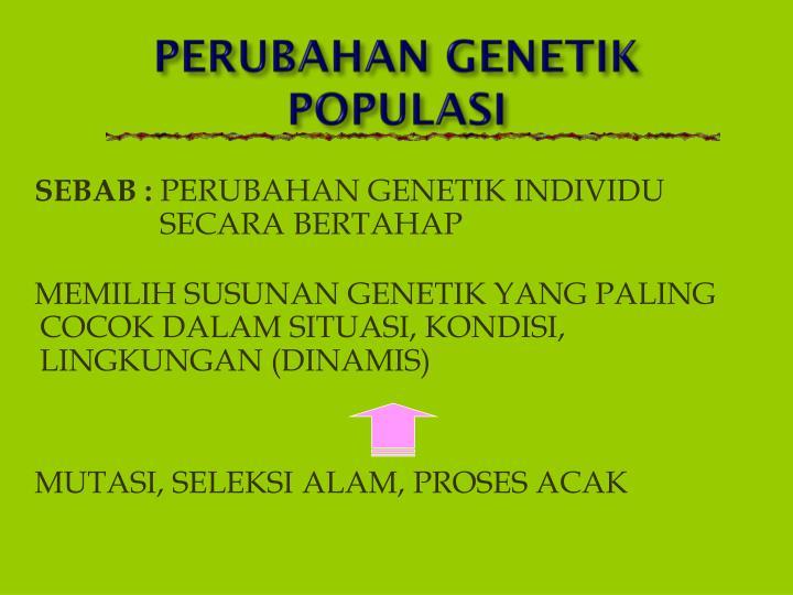 PERUBAHAN GENETIK POPULASI