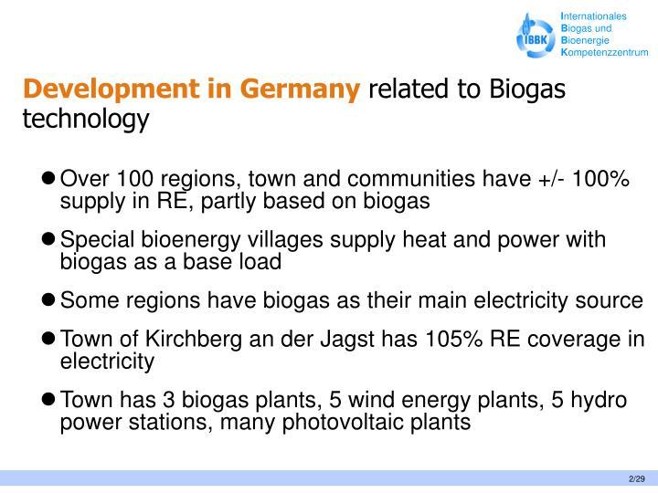 Development in Germany