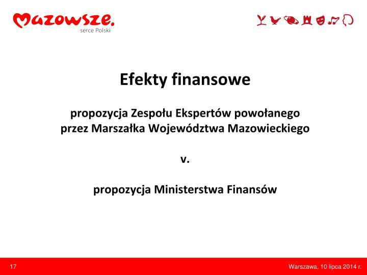 Efekty finansowe