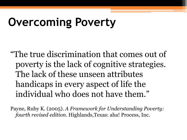 Overcoming Poverty