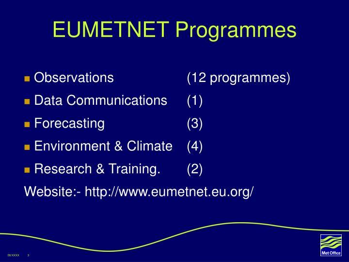 EUMETNET Programmes