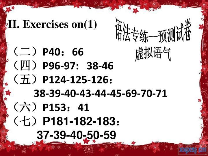 II. Exercises on