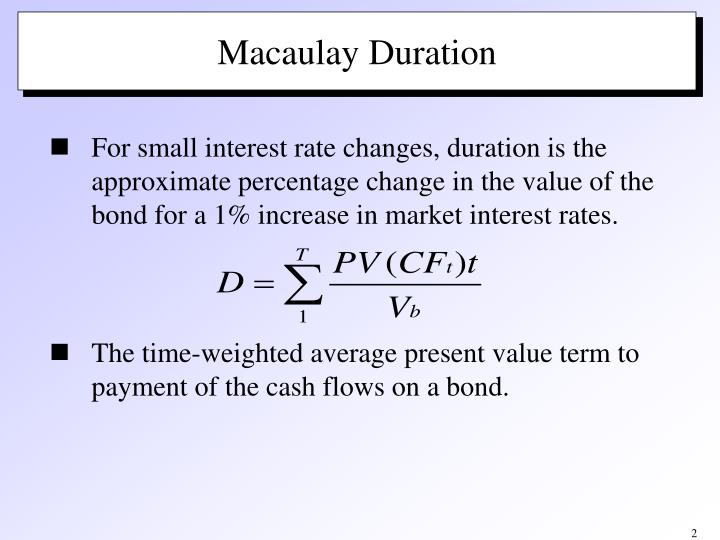 Macaulay duration