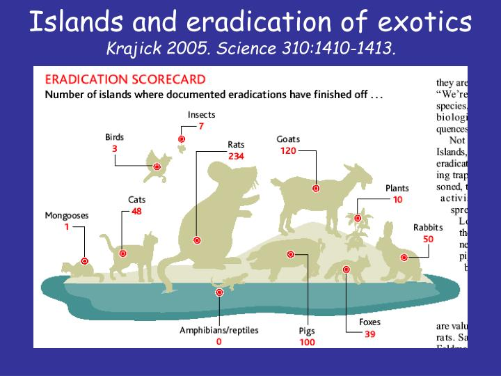 Islands and eradication of exotics