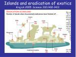 islands and eradication of exotics krajick 2005 science 310 1410 1413