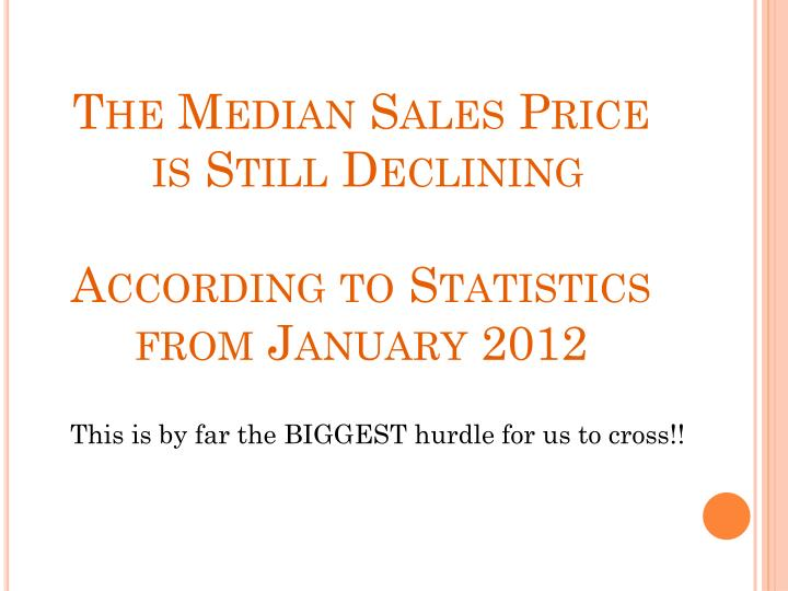 The Median Sales Price