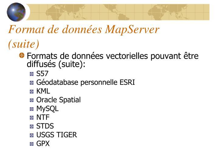Format de données MapServer (suite)