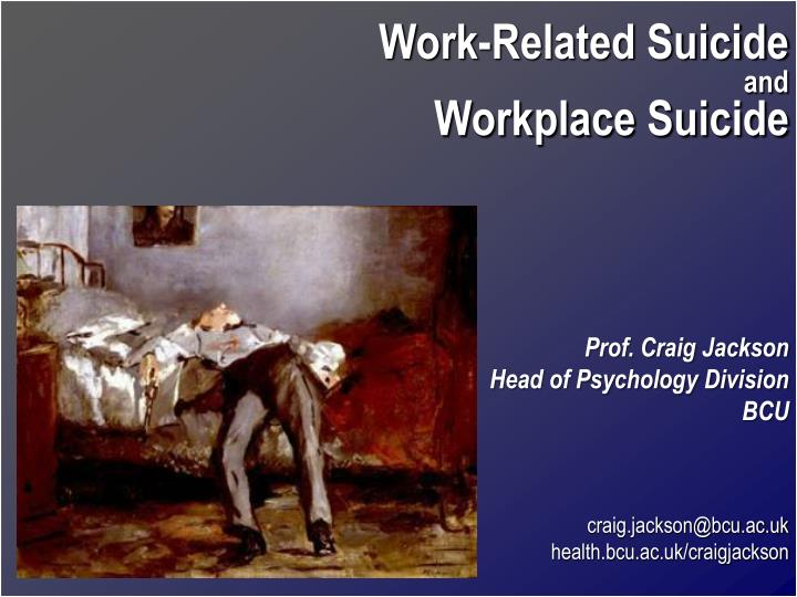 Work-Related Suicide