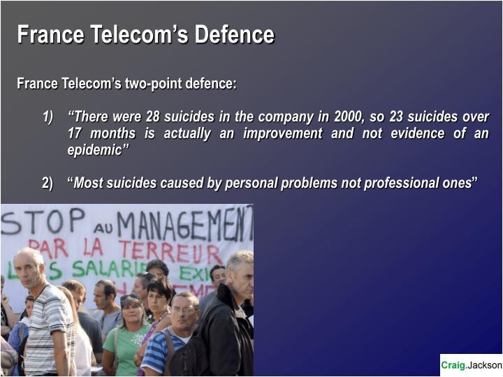 France Telecom's Defence