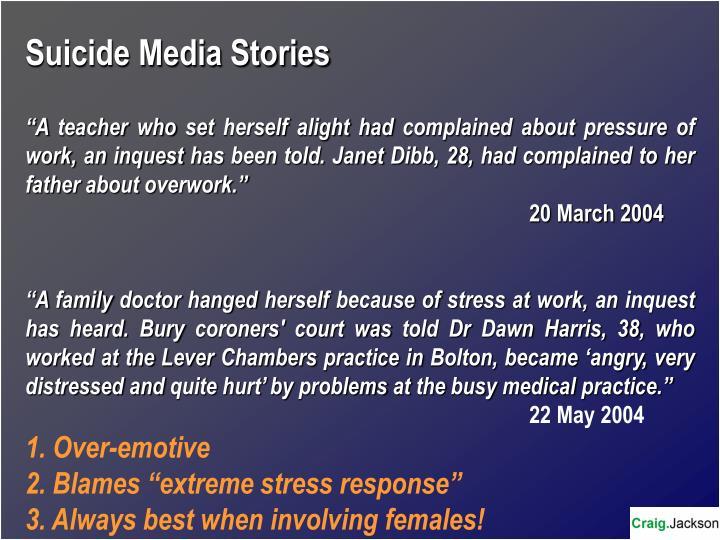 Suicide Media Stories
