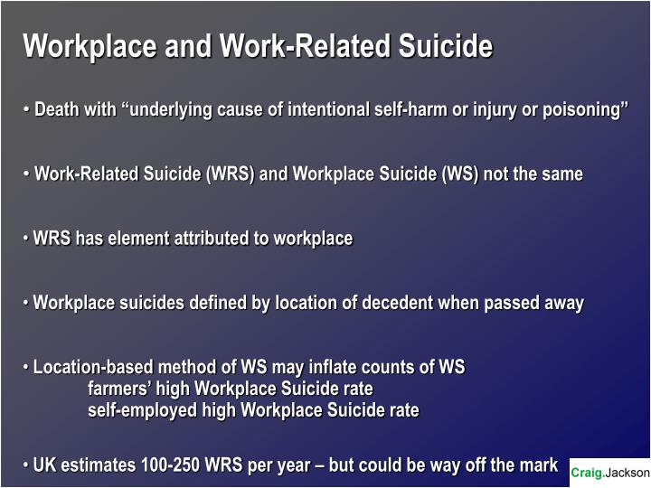 Workplace and Work-Related Suicide
