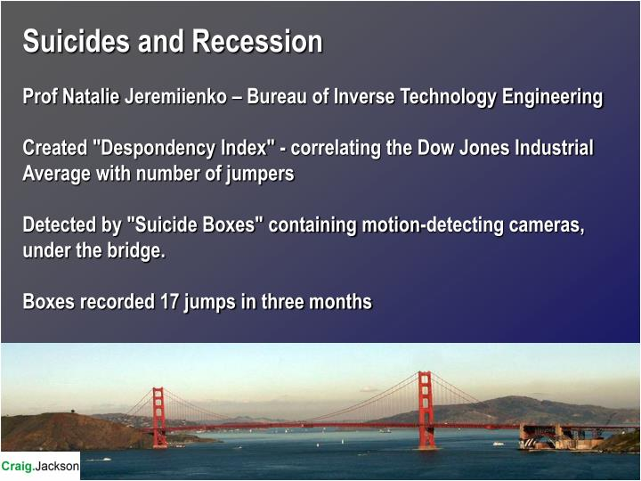 Suicides and Recession