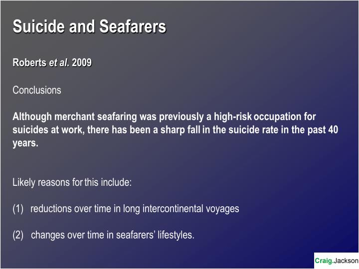 Suicide and Seafarers