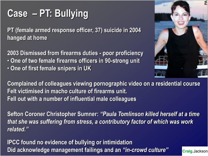 Case  – PT: Bullying
