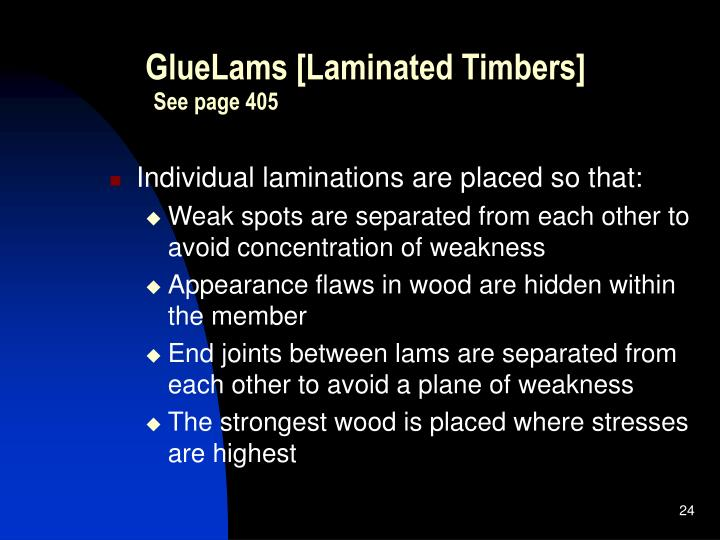 GlueLams [Laminated Timbers]