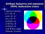 cmyk subtractive colors