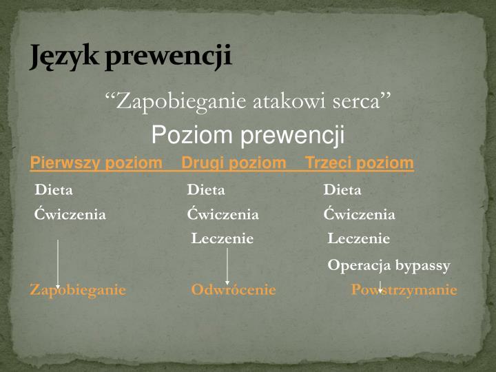 Język prewencji