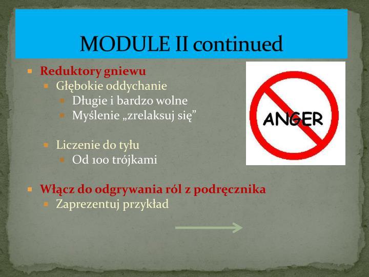 MODULE II continued