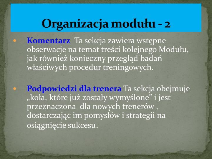 Organizacja modułu