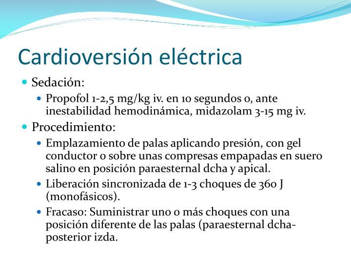 Cardioversión eléctrica