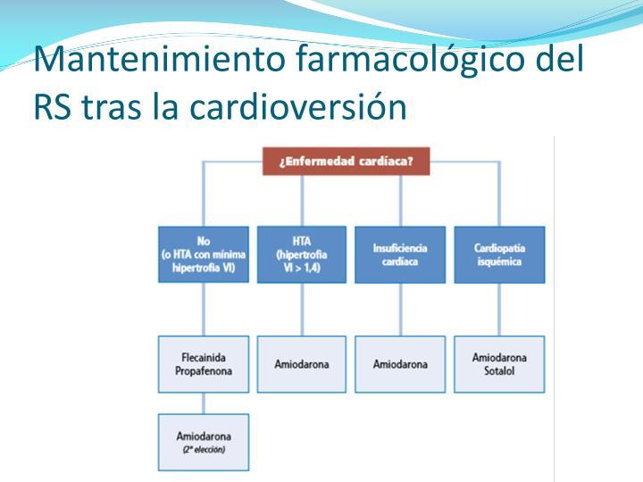 Mantenimiento farmacológico del RS tras la cardioversión