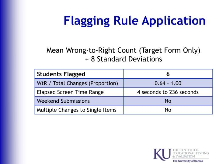 Flagging Rule Application