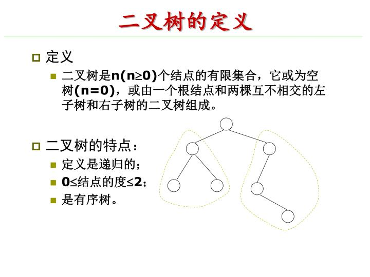 二叉树的定义
