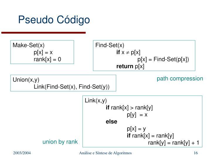Pseudo Código