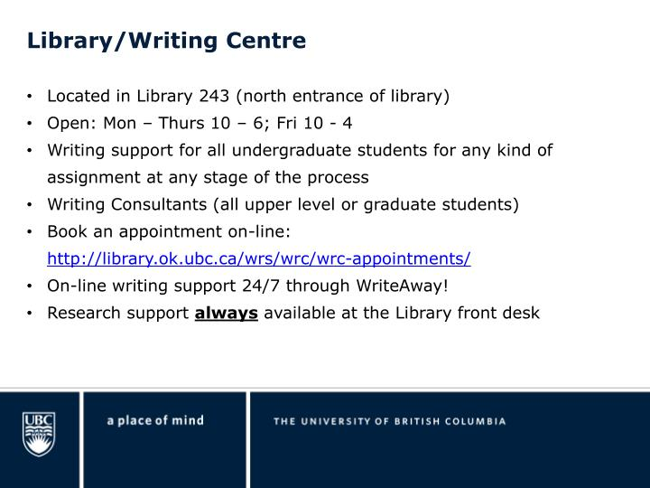 Library/Writing Centre
