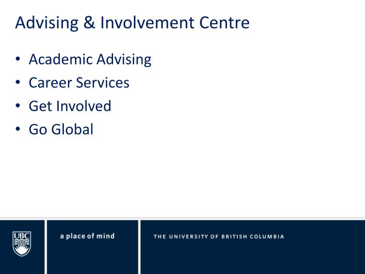 Advising & Involvement Centre