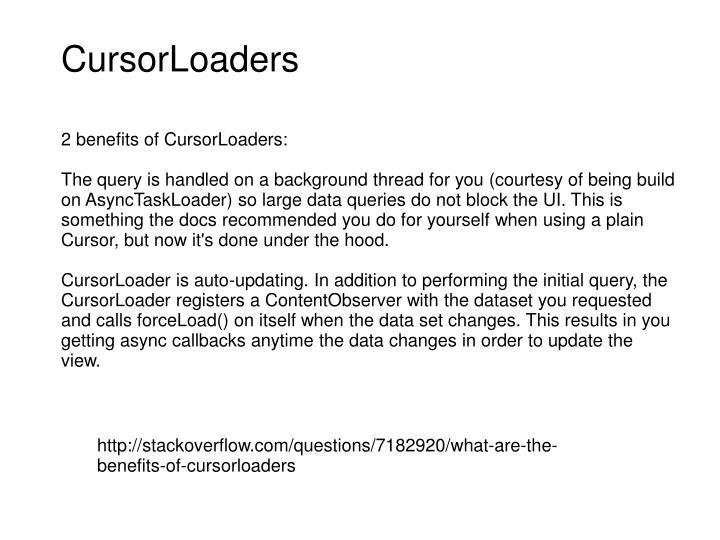 CursorLoaders