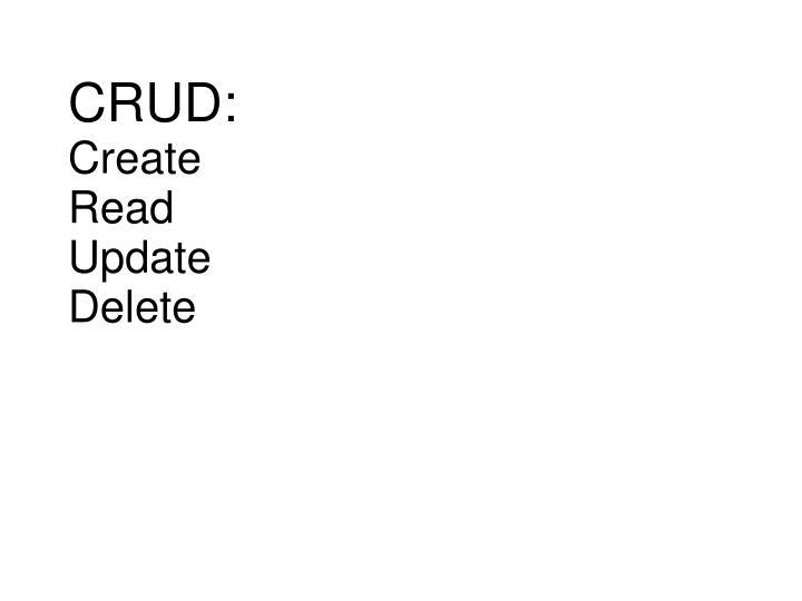 CRUD: