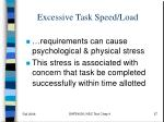 excessive task speed load