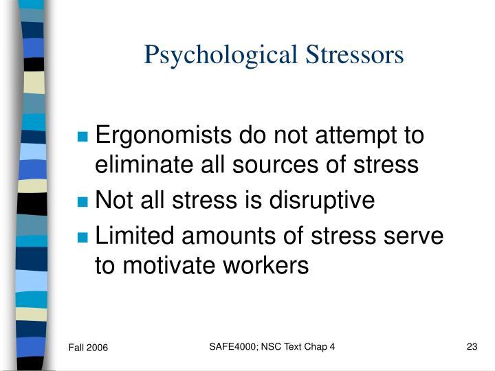 Psychological Stressors